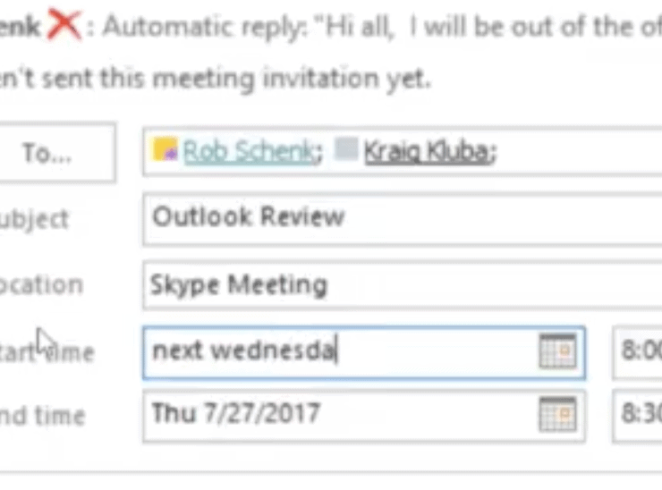 outlook calendar 8
