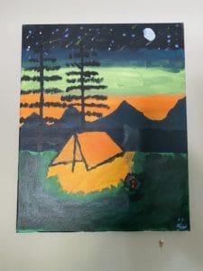 Painting - Camping